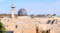 Al Aqsa Mosque, the third holiest site in Islam Stock Footage
