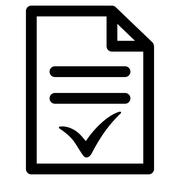 Stock Illustration of Valid Document Icon