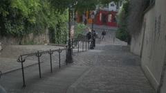 Paris Montmartre - stairs Stock Footage