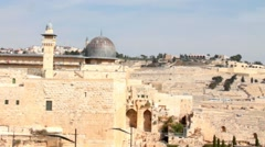 Al Aqsa Mosque, the third holiest site in Islam - stock footage