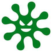 Evil Bacteria Icon Stock Illustration