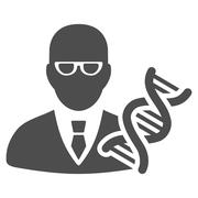 Genetic Engineer Icon Stock Illustration