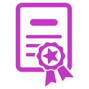 Certified Diploma Icon Stock Illustration