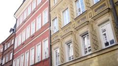 Swietojanska Street, Royal Palace in Warsaw Stock Footage