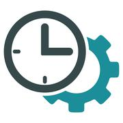Time Setup Flat Icon Stock Illustration