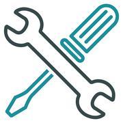 Tuning Tools Flat Icon - stock illustration