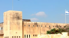 Latrun fortress (former British-Palestinian police station). Israel. Stock Footage