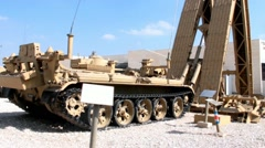 Latrun  Armored Corps Museum in Israel - stock footage