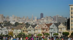 Painted Ladies Victorian Homes in San Francisco   Stock Footage