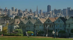 Painted Ladies Victorian Homes in San Francisco  	 - stock footage