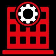 Corporation Flat Icon Stock Illustration