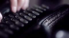 Classic typewriter detail footage Stock Footage