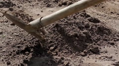 Builder digging the ground. Stock Footage