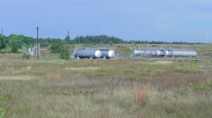 Oil storage in the country. Stock Footage