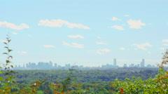 4K Boston Skyline from Massachusetts Hills Stock Footage
