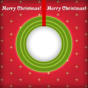Christmas round frame with place for text vector - stock illustration