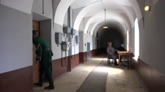 The Trubetskoy Bastion prison, Peter & Paul fortress, St Petersburg, Russia. - stock footage