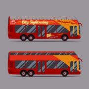 Red double decker bus Piirros