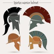 Spartan warrior Helmet Piirros