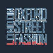 LondonTypography Graphics t-shirt - stock illustration