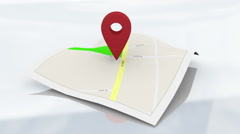 Street Map Marker Geography Concept Stock Footage