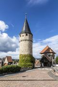 Part of the original drawbridge tower that lead to the castle in Bad Homburg, Stock Photos
