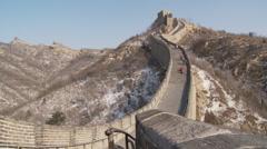 Great Wall of China, snow, Badaling, Beijing Stock Footage