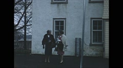 Vintage 16mm film, 1962, NJ/NY, two women, church and graveyard, b-rol Stock Footage