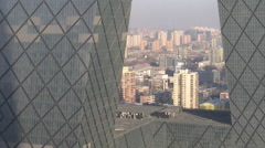 CCTV tower, CBD area, Beijing, China Stock Footage