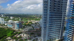 Aerial brickell Miami 2 Stock Footage