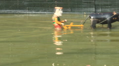 Performing water puppetry, Asia Stock Footage