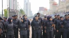 Military at independence day,Kuala Lumpur,Malaysia Stock Footage