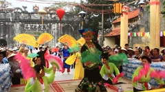 Group folk dance at the  festival, Asia Stock Footage