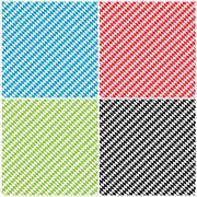 Bavarian Diamond Pattern Texture Background Set - Rhombus - stock illustration