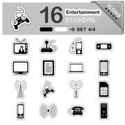16 Entertainment Icons - Stickers - Symbols Piirros
