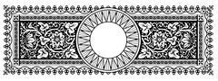 Flourish Vector Panorama Banner Design with Ornamental Frame - Vintage Design - stock illustration