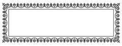 Decorative Vector Frame Panorama Template with Empty Space - stock illustration