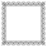Decorative Vector Frame Template with Empty Space Stock Illustration