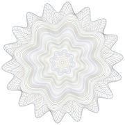 Guilloche Vector Pattern Rosette Stock Illustration