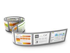 Film Strip with Web Design Templates - stock illustration