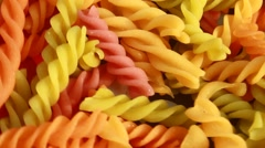 Noodles with many colors, shapes Stock Footage