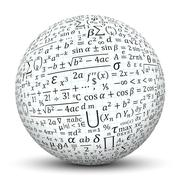 White Sphere with Math Symbol Texture - stock illustration