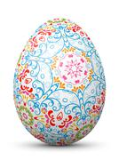 Abstract Painted 3D Easter Egg with Beautiful Pattern - Texture. - stock illustration