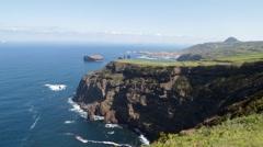 Beautiful rocky cliffs - North Sao Miguel Stock Footage