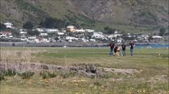 Ngawi golf links, New Zealand. Stock Footage