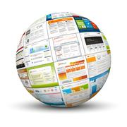 3D Sphere with Web Design Template Texture Stock Illustration