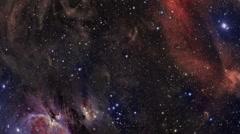 Beautiful Nebula Fly Through Stock Footage