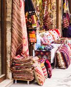 Textiles in the bazaar on Istanbul Stock Photos