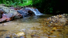 cascade scene in forest - stock footage