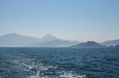Seascape of Fethiye bay islands, Turkey. Stock Photos